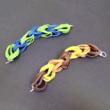 rubber-Armbänder, zwei- und dreifarbig