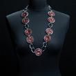 Halskette einfarbig dunkelrot