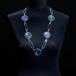 Halskette lang, dreifarbig