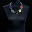 Halskette fünffarbig