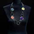 Halskette vierfarbig, Elemente beweglich