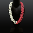 rubber-Halsschmuck, zweifarbig, zweiteilig