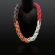 rubber-Halsschmuck, vierfarbig, vierteilig