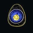 Ring t-Art schwarz/blitzblau/gelb