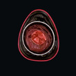 Ring t-Art dkl.braun/dkl.rot/lachs