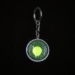 Schlüsselanhänger dunkelgrün mit giftgrünem Spot